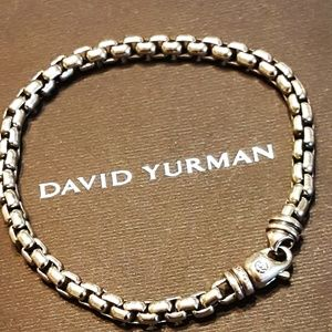 "DAVID YURMAN 925 SS 8"" 5MM BOX CHAIN BRACELET"